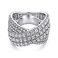 18k White Gold Contemporary Wide Band Ladies' Ring angle 1