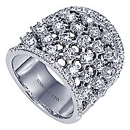 18k White Gold Contemporary Wide Band Ladies' Ring angle 3