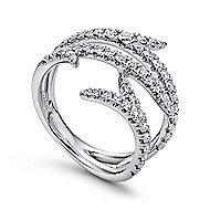 18k White Gold Kaslique Fashion Ladies' Ring angle 3