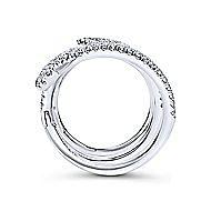 18k White Gold Kaslique Statement Ladies' Ring angle 2