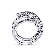 18k White Gold Kaslique Statement Ladies' Ring angle 2