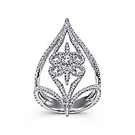 18k White Gold Kaslique Statement Ladies' Ring angle 4