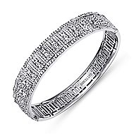 18k White Gold Lusso Bangle angle 2