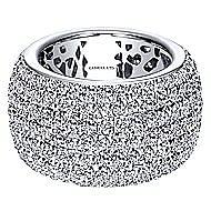 18k White Gold Lusso Fashion Ladies Ring