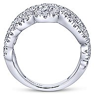 18k White Gold Lusso Wide Band Ladies' Ring angle 2