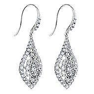 18k White Gold Mediterranean Drop Earrings angle 2