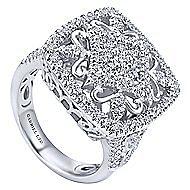 18k White Gold Mediterranean Fashion Ladies' Ring angle 3