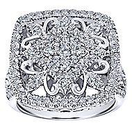 18k White Gold Mediterranean Fashion Ladies' Ring angle 4