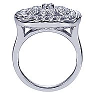 18k White Gold Mediterranean Fashion Ladies' Ring angle 2