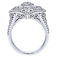 18k White Gold Mediterranean Statement Ladies' Ring angle 2