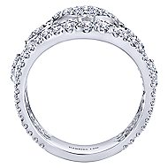 18k White Gold Mediterranean Wide Band Ladies' Ring angle 2