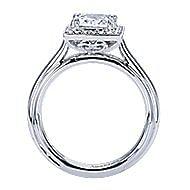 18k White Gold Princess Cut Halo Engagement Ring angle 2