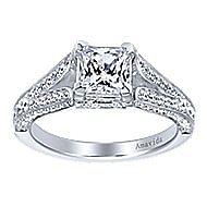 18k White Gold Princess Cut Split Shank Engagement Ring angle 5