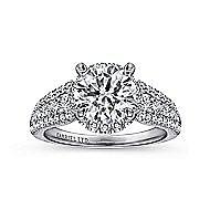 18k White Gold Round Halo Engagement Ring angle 5