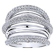 18k White Gold Silk Fashion Ladies' Ring angle 4