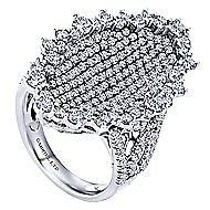 18k White Gold Silk Fashion Ladies Ring