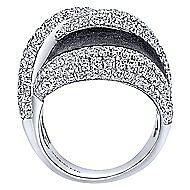 18k White Gold Silk Fashion Ladies' Ring angle 2
