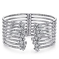 18k White Gold Waterfall Bangle angle 1