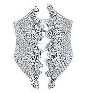 18k White Gold Waterfall Fashion Ladies' Ring angle 1