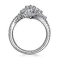18k White Gold Waterfall Fashion Ladies' Ring angle 2