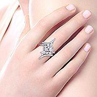 18k White Gold Waterfall Fashion Ladies' Ring angle 5
