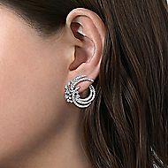 18k White Gold Waterfall Stud Earrings