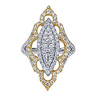 18k Yellow And White Gold Mediterranean Statement Ladies' Ring angle 1