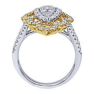 18k Yellow And White Gold Victorian Statement Ladies Ring