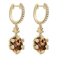 18k Yellow Gold Mediterranean Drop Earrings angle 2