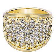18k Yellow Gold Mediterranean Fashion Ladies' Ring angle 1