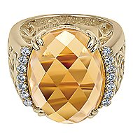 18k Yellow Gold Mediterranean Fashion Ladies' Ring angle 1