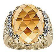 18k Yellow Gold Victorian Fashion Ladies Ring