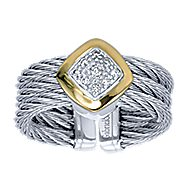3 Or More Metals Mixed Steel My Heart Fashion Ladies' Ring angle 5