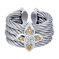 3 Or More Metals Mixed Steel My Heart Fashion Ladies' Ring angle 1