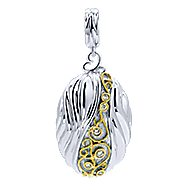 925 Silver And 18k Yellow Gold Madison Fashion Pendant angle 1