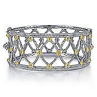 925 Silver And 18k Yellow Gold Mediterranean Bangle angle 1