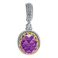 925 Silver And 18k Yellow Gold Mediterranean Fashion Pendant angle 1