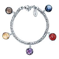 925 Silver And Stainless Steel Souviens Charm Bracelet angle 1