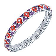 925 Silver And Stainless Steel Souviens Enamel Bangle angle 2
