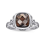 925 Silver Color Solitaire Fashion Ladies' Ring angle 4