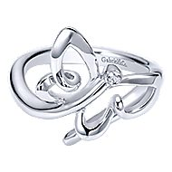 925 Silver Contemporary Butterfly Ladies Ring