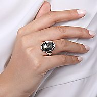 925 Silver Contemporary Classic Ladies Ring