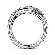 925 Silver Contemporary Fashion Ladies' Ring angle 2