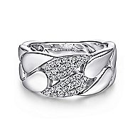925 Silver Contemporary Fashion Ladies Ring