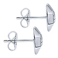 925 Silver Contemporary Stud Earrings angle 3