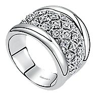 925 Silver Contemporary Wide Band Ladies Ring
