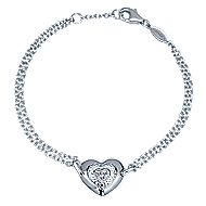 925 Silver Eternal Love Heart Bracelet angle 1