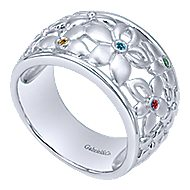 925 Silver Floral Fashion Ladies Ring