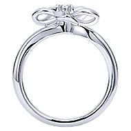 925 Silver Floral Fashion Ladies' Ring angle 2