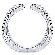 925 Silver Front Row Fashion Ladies' Ring angle 2